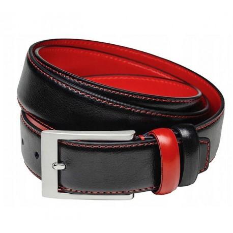 Černočervený pánský opasek Assante 90802