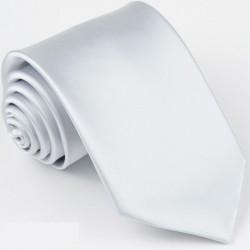 Bílá kravata jednobarevná Greg 99920