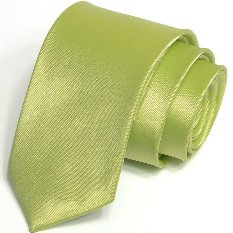 Fotografie Zelená kravata jednobarevná Greg 99950, Barva zelená