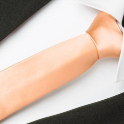 Bílá kravata slim Greg 99110