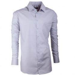 Prodloužená košile regular světle šedá Assante 20104