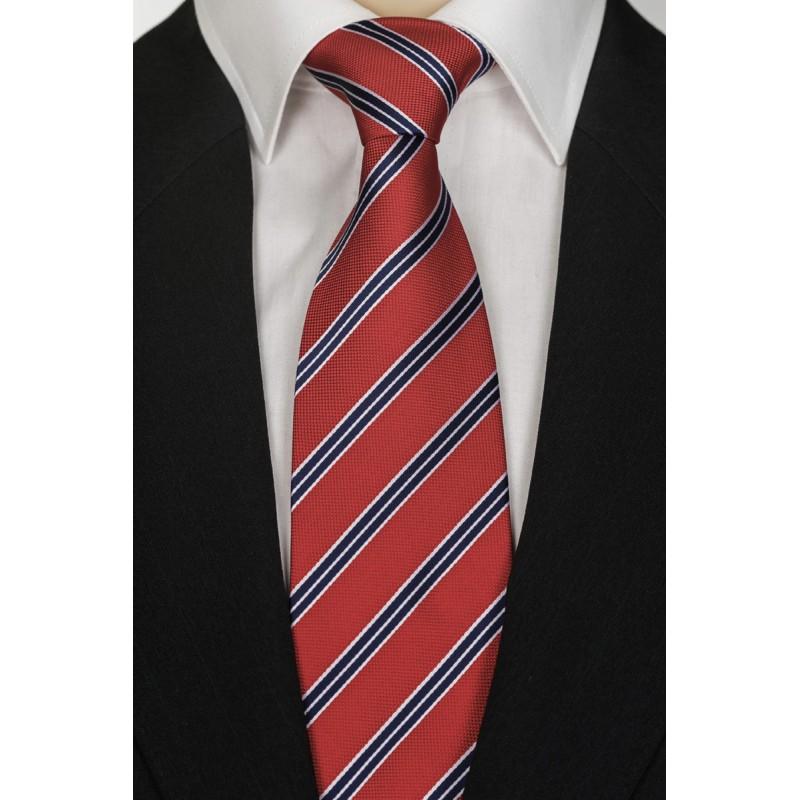 Úzká modrá kravata Greg 99404, Velikost Uni