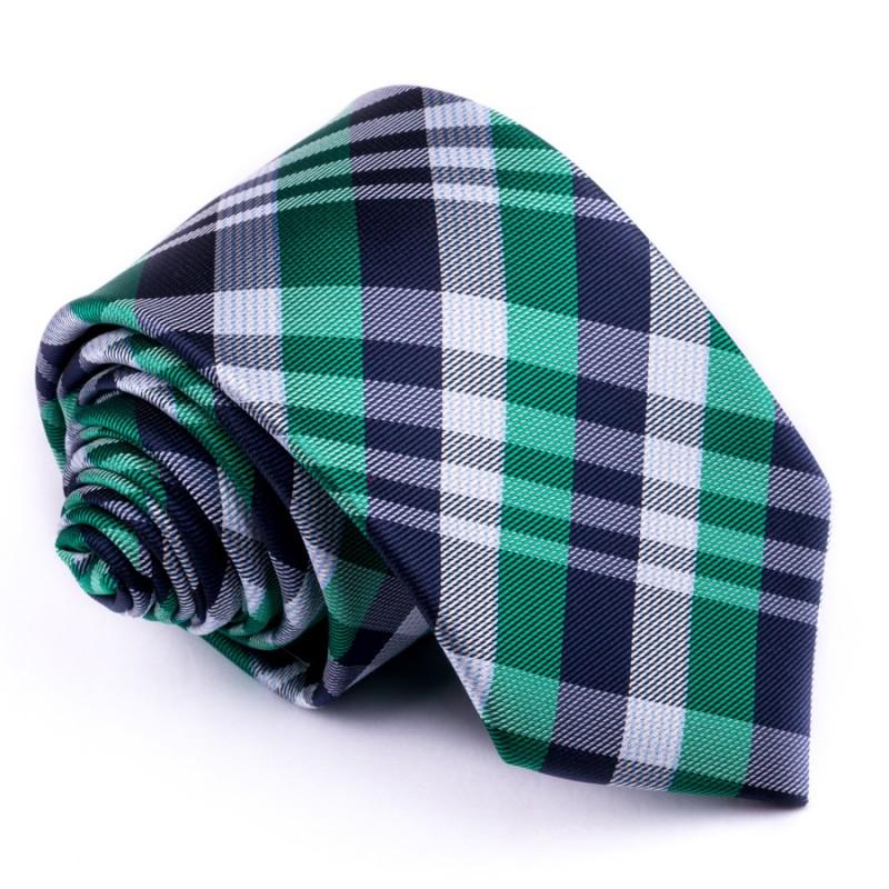 Fotografie Zelená pánská kravata Greg 95023, Barva zelená