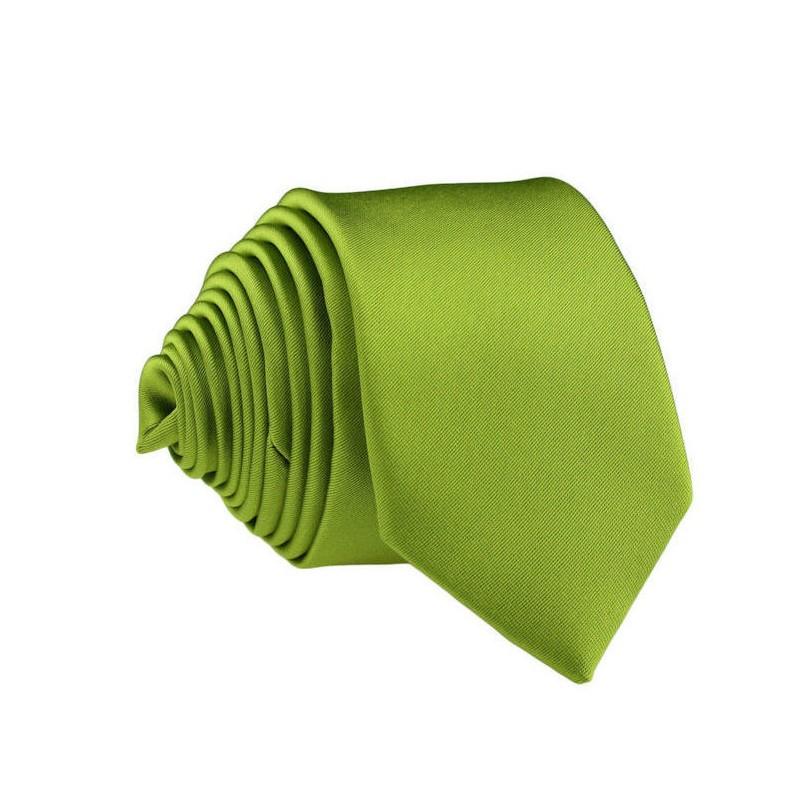 Fotografie Zelená slim kravata Greg 99150, Barva zelená