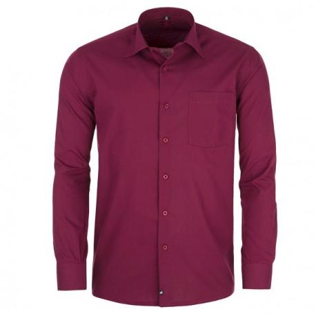 Bordó pánská košile s dlouhým rukávem slim Assante 30371